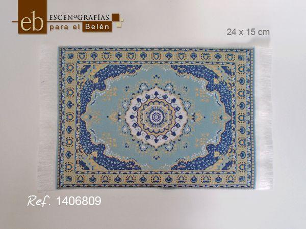 Escenograf as para el bel n alfombra persa azul for Alfombra persa azul